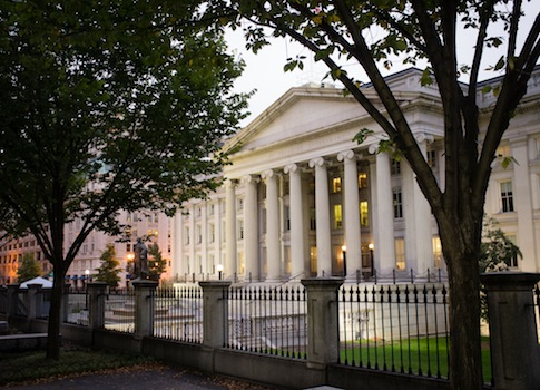 The U.S. Treasury building / AP