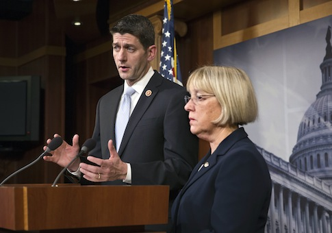 Rep. Paul Ryan (R., Wisc.) and Sen. Patty Murray (D., Wash.)