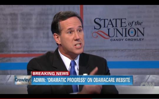 Santorum SOTU two