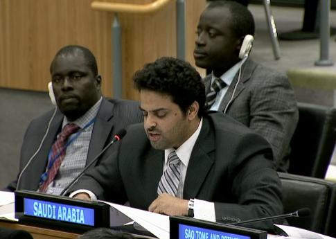 Saudi Arabia delegate speaks for U.N. Arab group / un.org