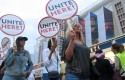 UNITE HERE casino workers picketing