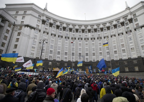 Protesters in Kiev, Ukraine / AP