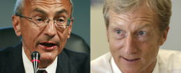 John Podesta, Tom Steyer / AP