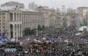 Demonstrators gather during a rally in downtown Kiev, Ukraine / AP