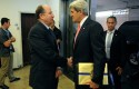 Israeli Defense Minister Moshe Ya'alon and Secretary of State John Kerry