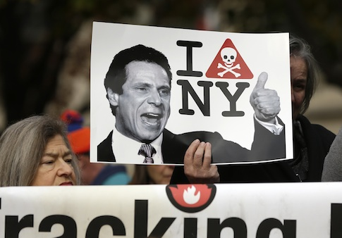 Anti-fracking activists in Albany, NY / AP