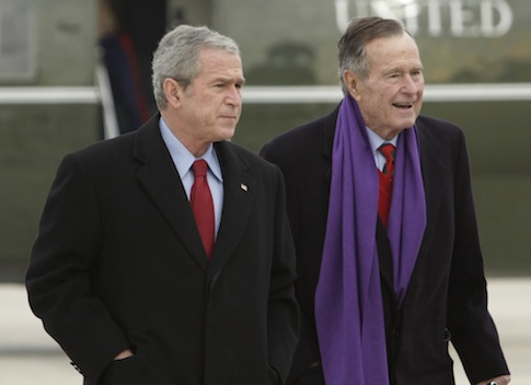 Former Presidents George W. Bush and George H.W. Bush
