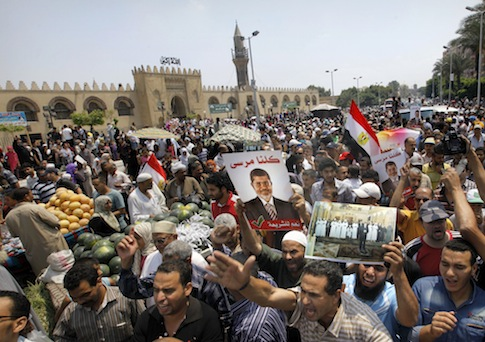Muslim Brotherhood supporters in Egypt / AP