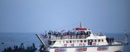 Israeli Naval vessel intercepts pro-Palestinian flotilla in 2010 / AP