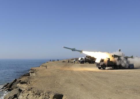 Iranian naval exercises / AP