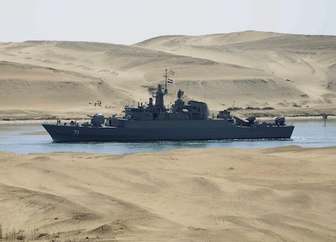 The Iranian navy frigate IS Alvand