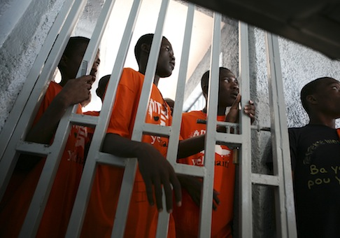 A youth prison in Port-au-Prince / AP