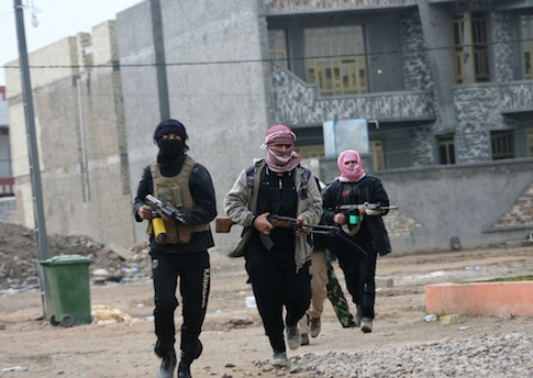 ISIS fighters in Syria / AP
