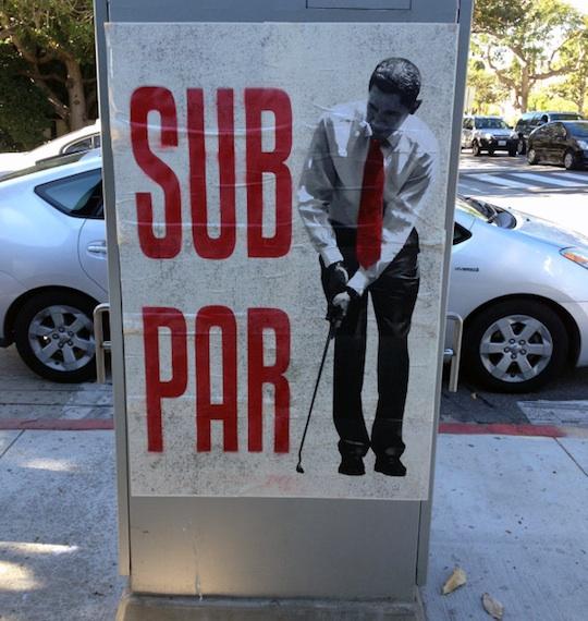 Obama Subpar Street cali