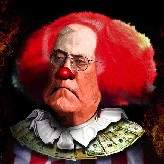 Noted un-American evil clown oligarch David H. Koch