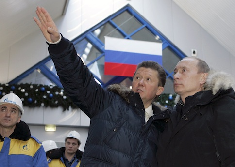 Gazprom CEO Alexei Miller  with Russian President Vladimir Putin / AP