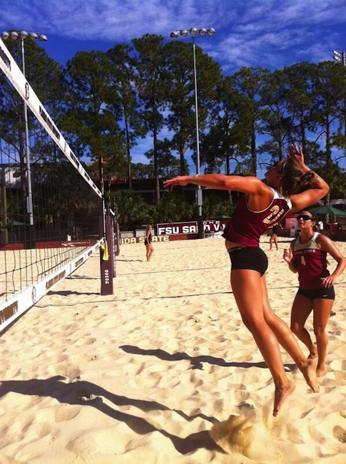 FSU Sand Volleyball Twitter