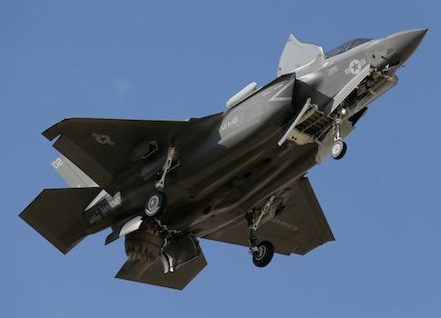 An F-35B fighter jet / AP