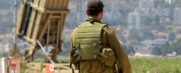 An Iron Dome missile interceptor overlooking Haifa, Israel / AP