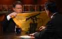Jeffrey Goldberg and a Hezbollah flag on the Colbert Report