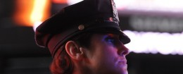 An NYPD police officer in Times Square / AP
