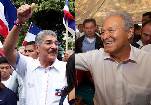 Norman Quijano (left) and Salvador Sanchez Ceren (right) / AP