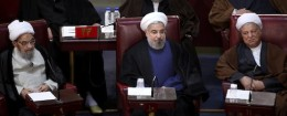 Iranian President Hassan Rouhani at a meeting of the Assembly of Experts