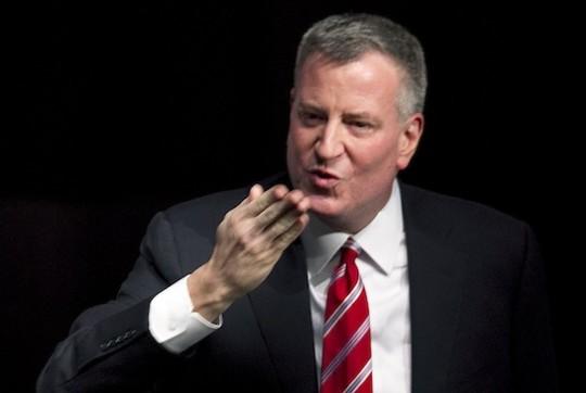 New York City Mayor Bill de Blasio / AP
