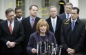 New Hampshire Gov. Maggie Hassan (D), fourth from left.