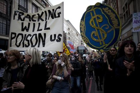 Environmentalists protesting / AP
