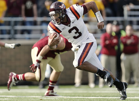 Virginia Tech quarterback Logan Thomas / AP