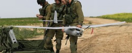 IDF soldiers set up a drone  / AP