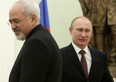Russian President Vladimir Putin meeting Iranian Foreign Minister Mohammad Javad Zarif in January 2014 / AP