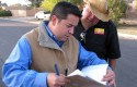 Rep. Ben Lujan and former campaign field director Jason Loera in 2010 / AP
