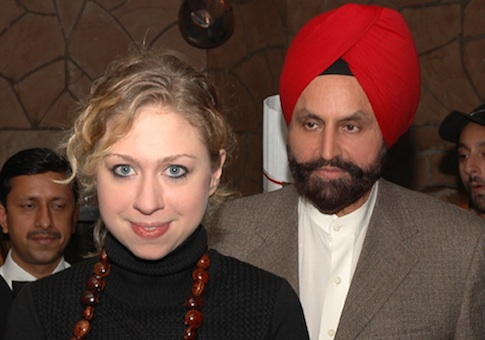 Chelsea Clinton and Sant Singh Chatwal
