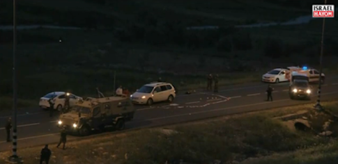 Scene of the crime : Screenshot from Israel Hayom video