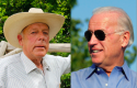 Cliven Bundy (left) and Joe Biden