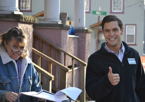 Sean Eldridge mingles with a local commoner. (Facebook)