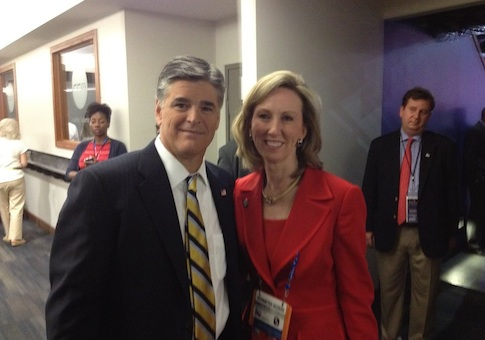Sean Hannity, Barbara Comstock / Facebook