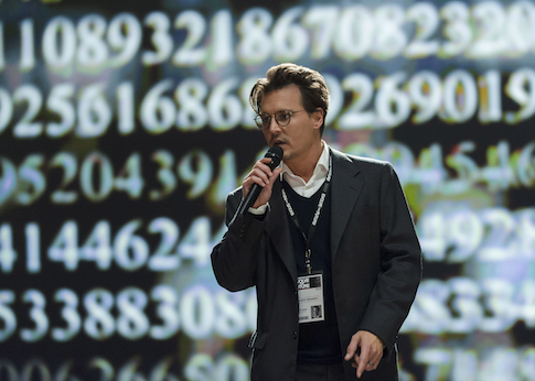 "Johnny Depp as Will Caster in Alcon Entertainment's sci-fi thriller ""Transcendence."" / AP"
