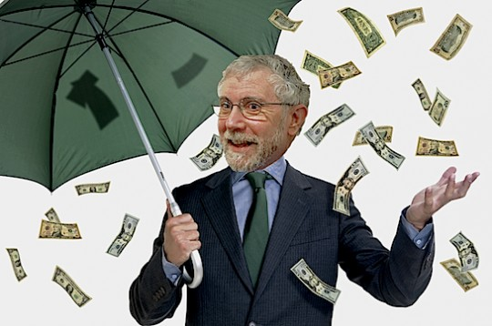 Paul Krugman gets his.