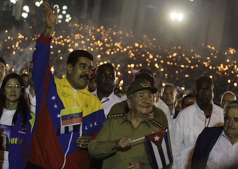 Venezuela's President Nicolas Maduro with Cuban President Raul Castro / AP