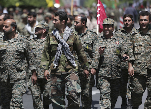 Members of the Iranian paramilitary Basij force / AP