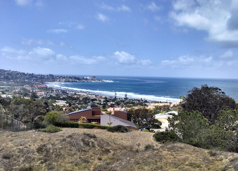 The scenic view from Irwin Jacobs beachside mansion.