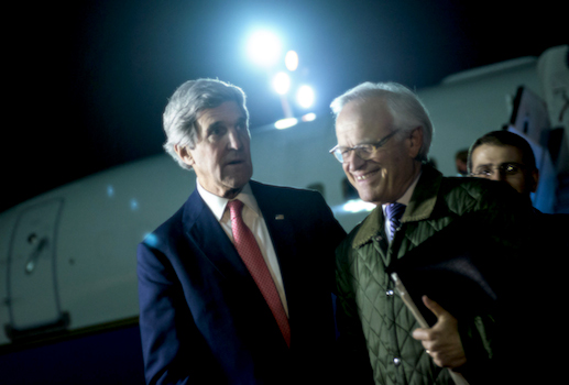 Secretary of State John Kerry and Middle East envoy Martin Indyk / AP