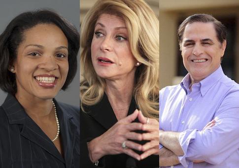 Kesha Rogers, Wendy Davis, David Alameel