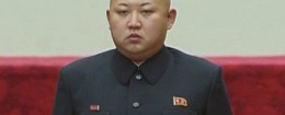 N. Korean leader Kim Jong Un at parliament session