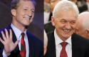 Billionaire Democratic donor Tom Steyer and Russian oligarch Gennady Timchenko / AP
