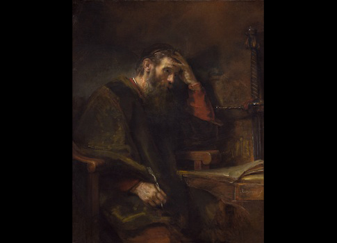 Rembrandt van Rijn, The Apostle Paul, 1957 / National Gallery of Ary