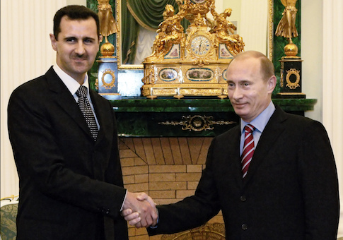 Syrian President Bashar al-Assad meeting with Russian President Vladimir Putin in 2006 / AP